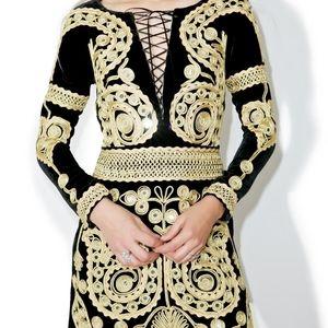 FL&L Velvet ornate dress paris collection